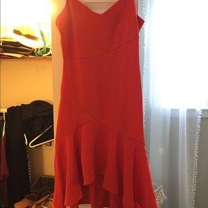 Bright red lulus dress